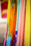 färgrika tyger Fotografering för Bildbyråer