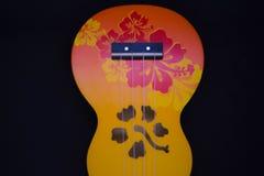 Färgrika Ukelele med blom- design Arkivfoton