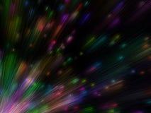 färgrika utsläpplottpartiklar Arkivbilder