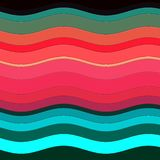 Färgrika vågor som former, abstrakt design Arkivbilder