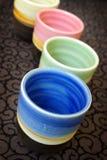färgrika vases royaltyfri bild