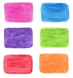Färgrika vattenfärgbakgrunder för design Arkivfoto