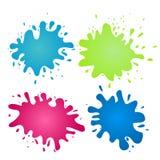 Färgrika vattenfärgfärgstänk för vektor Arkivfoton