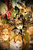 Färgrika Venetian karnevalmaskeringar Royaltyfria Bilder