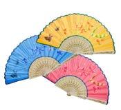färgrika ventilatorer tre royaltyfria foton