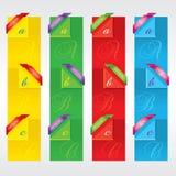 Färgrika vertikala baner. Royaltyfria Foton
