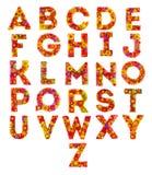Färgrika volymetriska bokstäver stock illustrationer