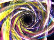 färgrika vridna fantasilottrør Arkivbild