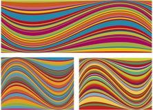 färgrika waves Arkivfoto