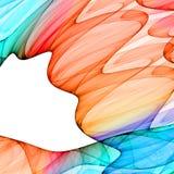 färgrika waves för abstrakt bakgrund Royaltyfri Foto