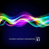 färgrika waves för abstrakt bakgrund stock illustrationer
