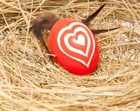färgrikt ägg Arkivfoto