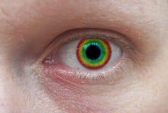 färgrikt öga Arkivfoton