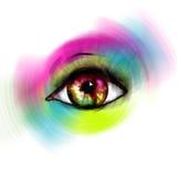 färgrikt öga Royaltyfri Foto