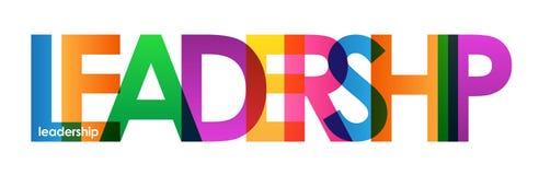 Färgrikt överlappande bokstavsbaner för LEDARSKAP royaltyfri illustrationer