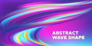 Färgrikt abstrakt baner för våg 3d vektor illustrationer