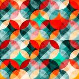 Färgrikt abstrakt begrepp cirklar den sömlösa modellvektorillustrationen Royaltyfri Foto