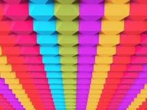 Färgrikt abstrakt begrepp 3d blockerar bakgrund Arkivbild