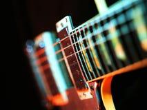 Färgrikt abstrakt begrepp för elektrisk gitarr Royaltyfri Foto