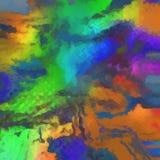 Färgrikt abstrakt begrepp målad bakgrund eller textur Royaltyfri Foto