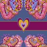 Färgrikt abstrakt förälskelsekort Royaltyfria Foton