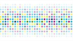 Färgrikt abstrakt skinande ljus cirklar den videopd animeringen arkivfilmer