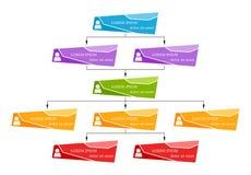 Färgrikt affärsstrukturbegrepp, intrig för diagram för företags organisation vektor illustrationer