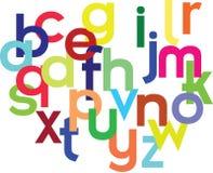 färgrikt alfabet royaltyfri illustrationer