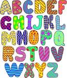 Färgrikt alfabet Royaltyfri Bild
