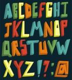 Färgrikt alfabet 3d royaltyfri illustrationer
