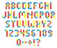 färgrikt alfabet Arkivbild