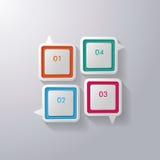 Färgrikt anförandebubblafönster Arkivbild