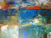 Färgrikt Artisticl abstrakt begrepp målad bakgrund Arkivfoton