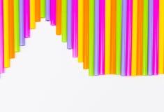 Färgrikt av att dricka sugrörbakgrund Fotografering för Bildbyråer