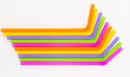 Färgrikt av att dricka sugrörbakgrund Arkivbilder
