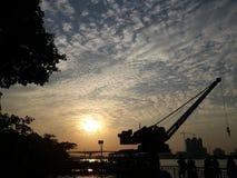 Färgrikt av blå himmel Royaltyfria Bilder