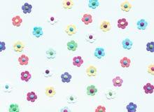 Färgrikt av blommapapper på vit Fotografering för Bildbyråer
