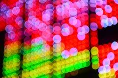 Färgrikt av bokehbakgrund arkivfoton