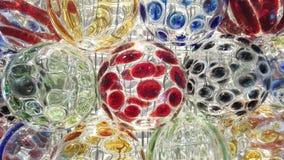 Färgrikt av den glass bollen arkivfoto