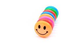 Färgrikt av det magnetiska gemet för leende Arkivfoto