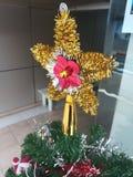 Färgrikt av garnering för julgran för ask för gåva för ask för bolldockagåva Arkivbild
