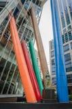 Färgrikt av kolonner Arkivfoto