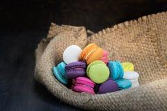 Färgrikt av macarons Royaltyfri Bild