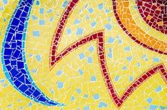 Färgrikt av mosaiska tegelplattor Royaltyfri Foto
