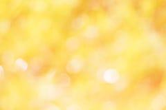 Färgrikt av suddig guling för bokehljus Royaltyfri Fotografi