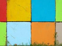 Färgrikt av tegelsten Fotografering för Bildbyråer