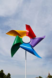 Färgrikt av väderkvarnen Royaltyfria Foton
