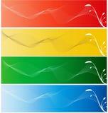 färgrikt baner Royaltyfri Bild