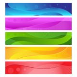 färgrikt baner Arkivfoton