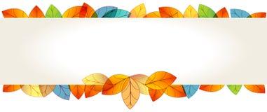 Färgrikt baner för höstsidor Royaltyfri Foto